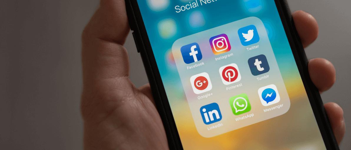 Social media app on I phone
